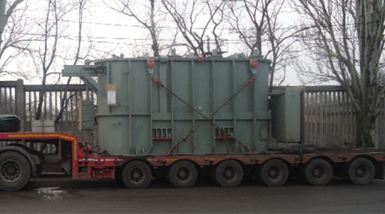 Delivery of 2 transformers for Siemens