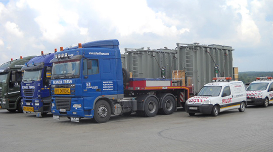 Delivery of 3 transformers to Estonia