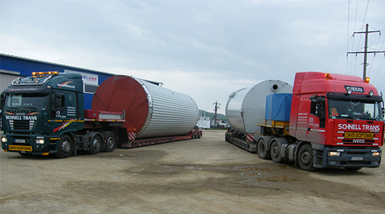 Delivery of 8 milk tanks for a diary factory in Romania