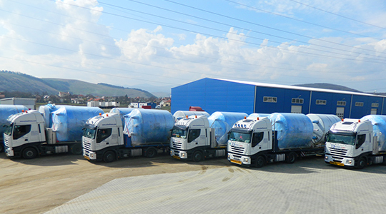 Delivery of 8 milk tanks for a beer factory in Russia