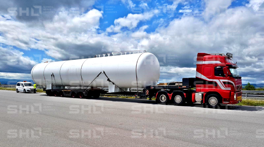 Delivery of 4x LPG-Tanks to Romania